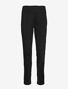 Freya Pant w/ Rib Pannel - slim fit bukser - black