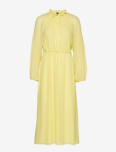 Diana LS Ankle Dress - ELFIN YELLOW