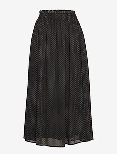 Diana Ankle Skirt - BLACK