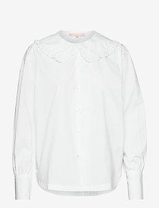 SRZimmy Poplin Shirt - langärmlige blusen - snow white / off white