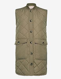 SREileen Quilt Vest - gevoerde vesten - covert green