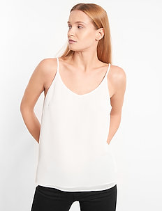 Frida Top - Ærmeløse bluser - snow white / off white