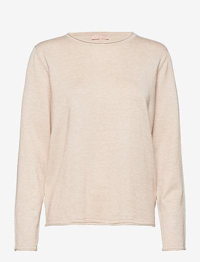 SRMarla O-neck Knit Roll Edge - trøjer - whitecap gray