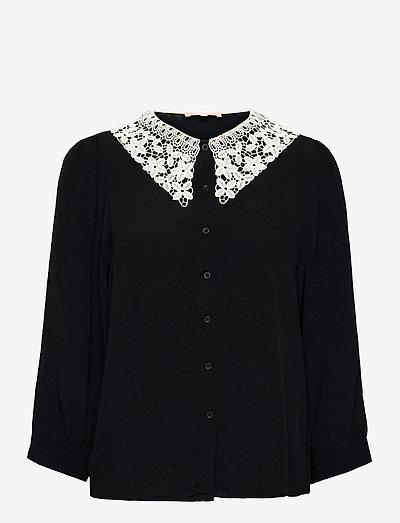 SRJudith 3/4 Shirt - long sleeved blouses - black
