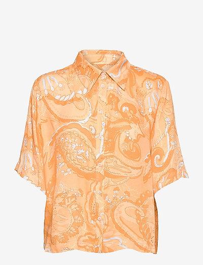SRPennie 2/4 Shirt - denim shirts - paisley print