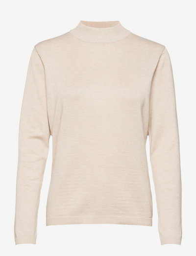 SRMarla Turtleneck Knit - rullekraver - whitecap gray