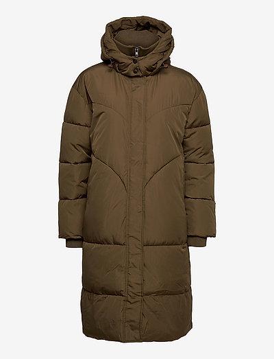 SRInga Puffer Coat - vinterfrakker - dark olive