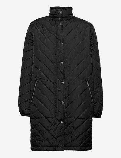 SRRevna Quilt Coat - vinterfrakker - black