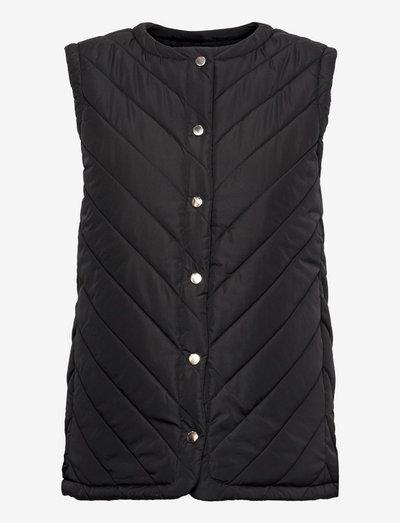 SRRevna Quilt Vest - vatteret veste - black