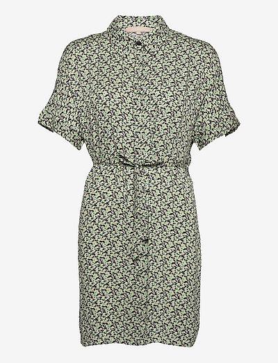 SRLeah Shirt Dress - summer dresses - blur flower arcadian green