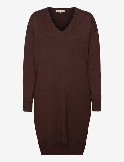 SRLea V-neck Dress - summer dresses - shaved chocolate