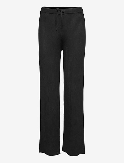 SRAron Pant Knit - straight leg trousers - black