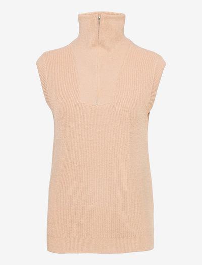 SRJenny Zip Vest Knit - strikveste - brush