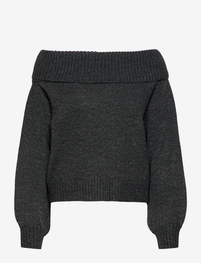 SRLouisa Off-Shoulder Knit - trøjer - magnet