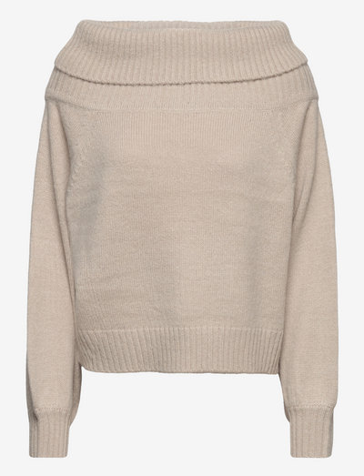 SRLouisa Off-Shoulder Knit - trøjer - silver cloud