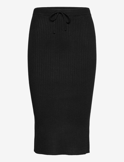 SRAron Skirt Knit - midi skirts - black