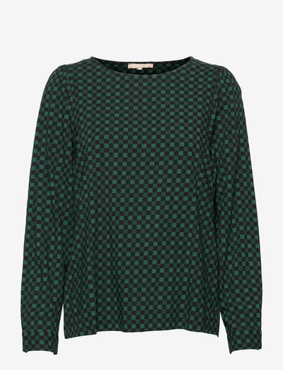 SREllie LS Blouse - long sleeved blouses - mini square bayberry