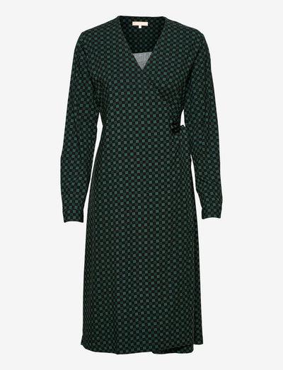 SREllie Midi Wrap Dress - sommerkjoler - mini square bayberry