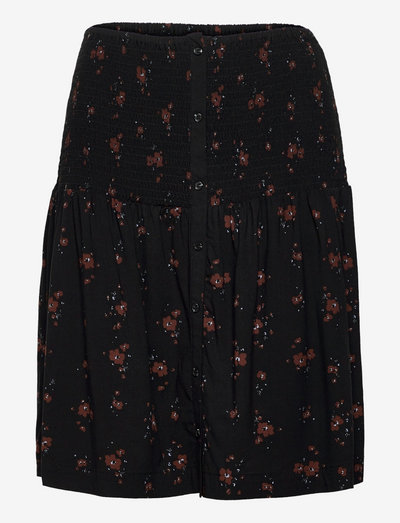 SREllie Skirt - midi skirts - flower print chocolate