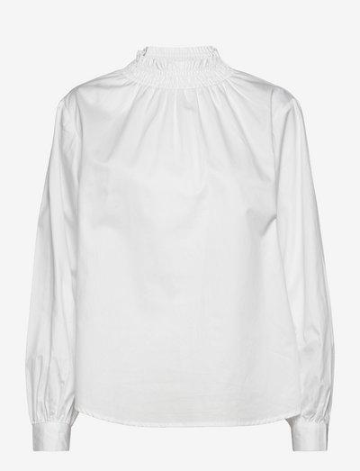 SREilja LS Blouse - long sleeved blouses - snow white