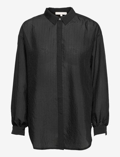 SRLinnea LS Shirt - long sleeved blouses - black