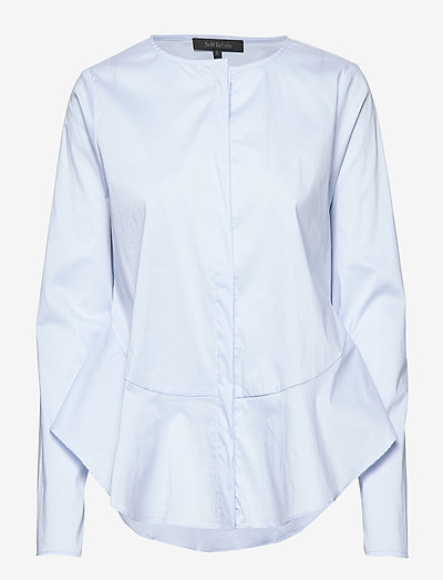 Aimee Shirt - long sleeved blouses - cashmere blue