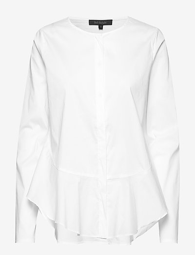 Aimee Shirt - long sleeved blouses - snow white / off white