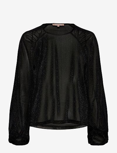 SRAlbertine LS Top - long sleeved blouses - black