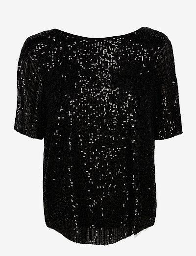SRGeorgina SS Top - short-sleeved blouses - black