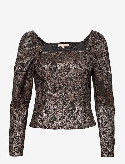 SRWilhelmina LS Top - long sleeved blouses - asphalt