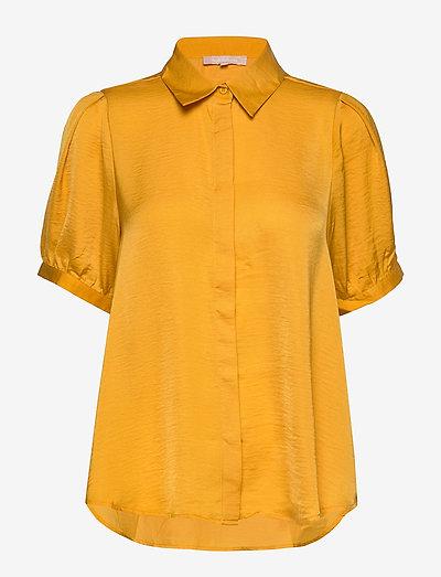 Andrea 2/4 Shirt - short-sleeved blouses - kumquat