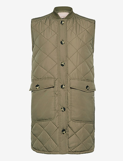 SREileen Quilt Vest - puffer vests - covert green