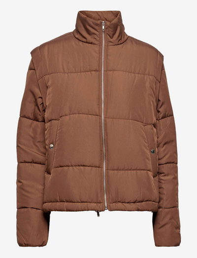 SRSigne Short Puffer Jacket - vinterjakker - shaved chocolate