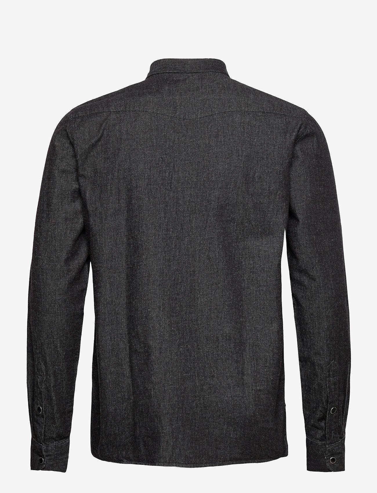 Solid 6200605, Shirt - SDSaxon LS Denim - Skjorter BLACK - Menn Klær
