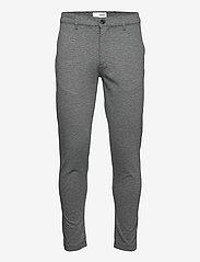 Solid - SDDave Barro Pants - slim fit bukser - dar grey m - 0