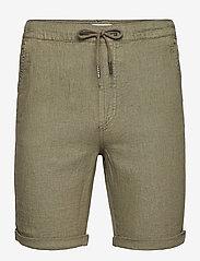 Solid - SDTruc Shorts Linen - short décontracté - ivy green - 0