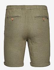 Solid - SDTruc Shorts Linen - short décontracté - ivy green - 1