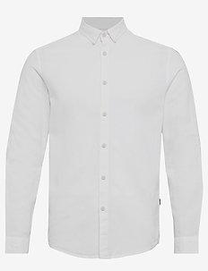 6190209, Shirt - Bern Linnen LS - WHITE