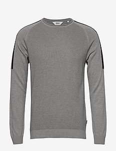 6192601, Knit - Dash O-Neck - basic knitwear - lig grey m
