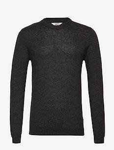 6192604, Knit - Davi O-Neck Cashmere - basic knitwear - black mel