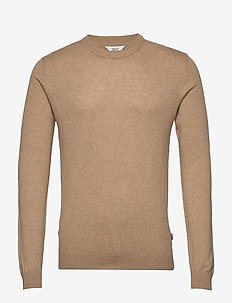 6192604, Knit - Davi O-Neck Cashmere - perusneuleet - curry m