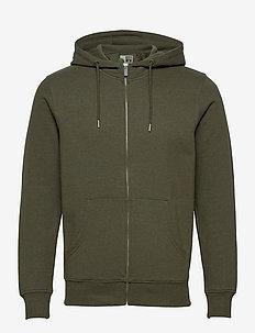 6197724, Sweat - Morgan Zip Organic - basic sweatshirts - ivy gre m