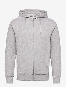 6197724, Sweat - Morgan Zip Organic - podstawowe bluzy - lig grey m