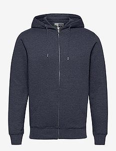 6197724, Sweat - Morgan Zip Organic - basic sweatshirts - navy mela