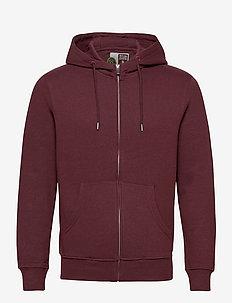 6197724, Sweat - Morgan Zip Organic - basic sweatshirts - wine re m