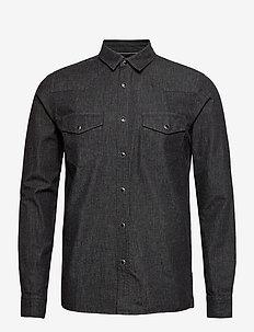 6200605, Shirt - SDSaxon LS Denim - podstawowe koszulki - black
