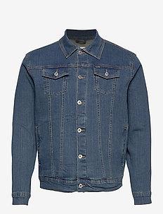 SDPeyton - kurtki dżinsowe - dark vintage blue denim