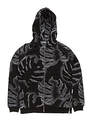 South Zip Hoodie - BLACK MULTI