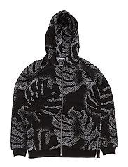 South Zip Hoodie - BLACK MULTI