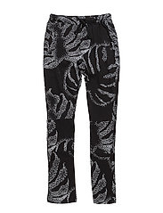 Montego Pants - BLACK MULTICOL